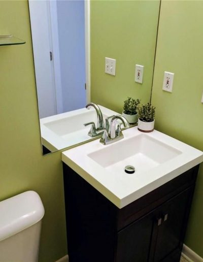 Half Bath Powder Room Vacant Home Staging, Color Consultation, Redesign, Microstaging